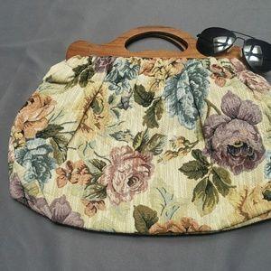 "Forever 21 floral hand bag 11""x17"""